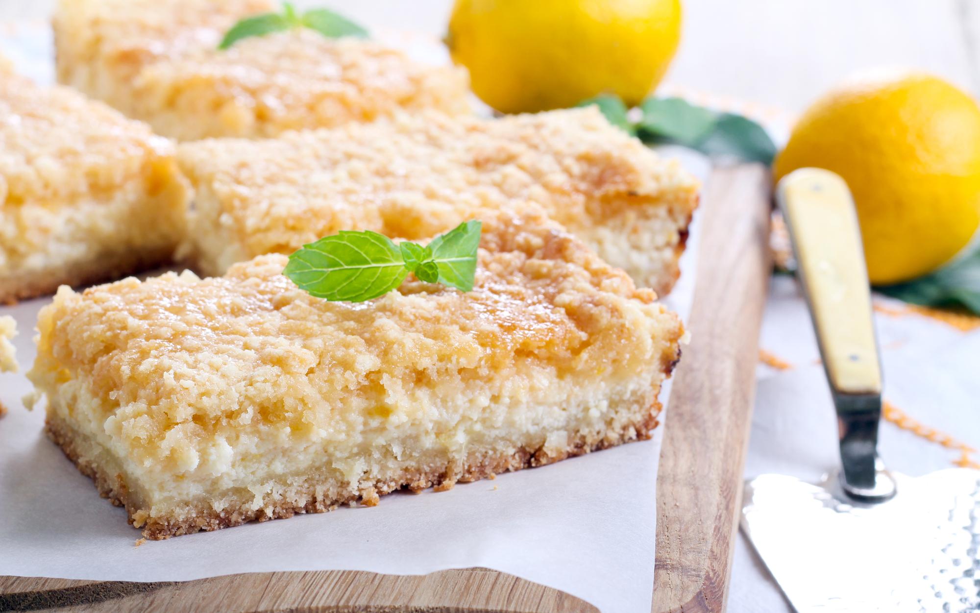 Hrnkový sypaný tvarohový koláč recept