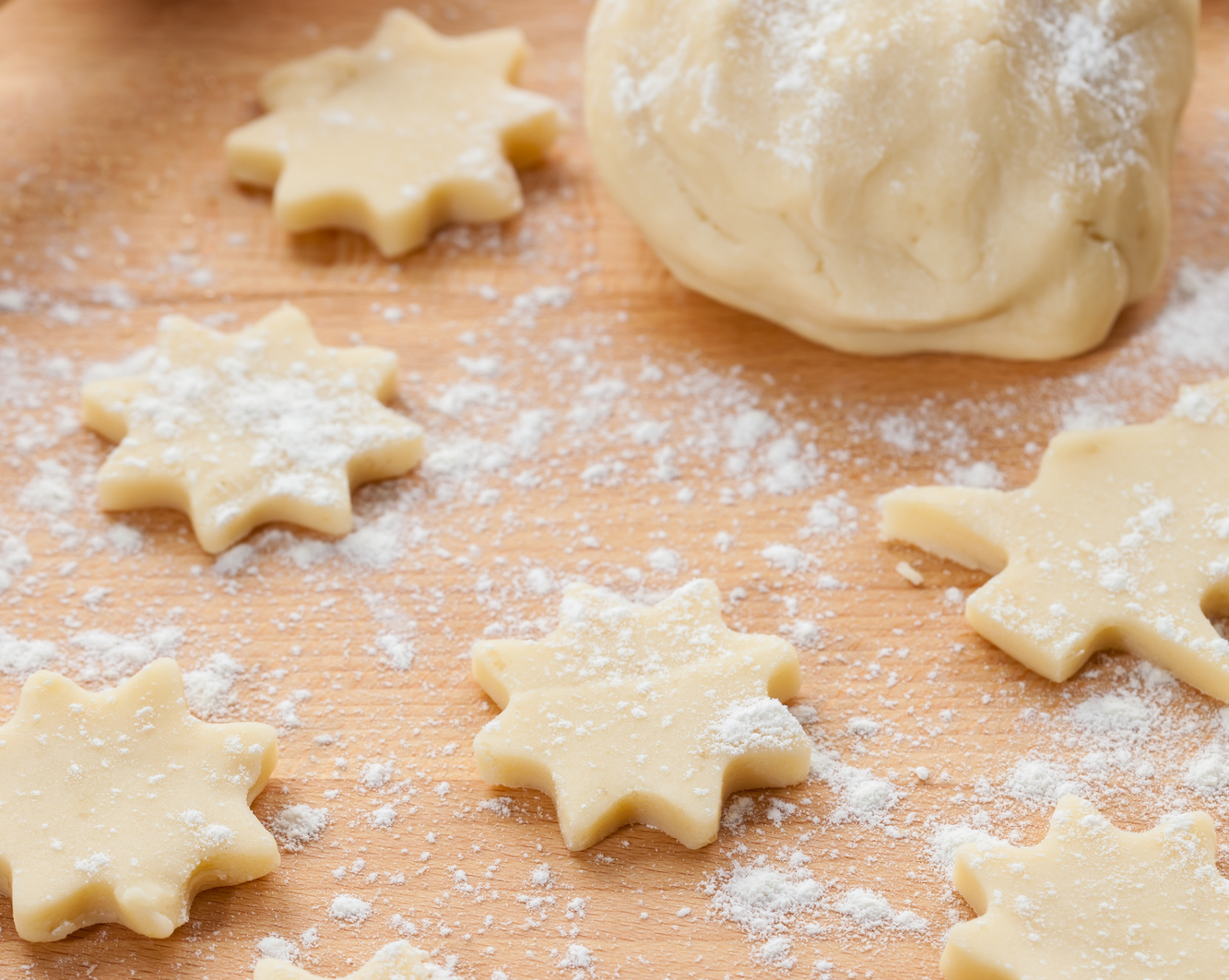 Linecké těsto na vánoce recept